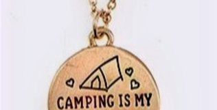 Camping Pendant Necklace