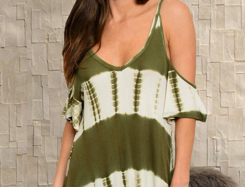 """""""Olive You"""" Tie Dye Top"""