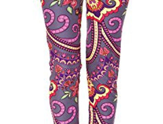 Purple Bouquet Leggings