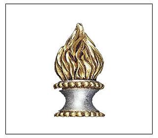 Flame finial