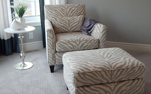 Upholstery Chair & Ottoman
