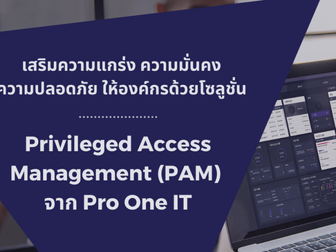 Privileged Access Management (PAM) จาก Pro One IT