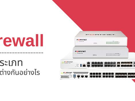 Firewall มีกี่ประเภท ทำงานต่างกันอย่างไร