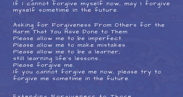 The First Breath of Forgiveness