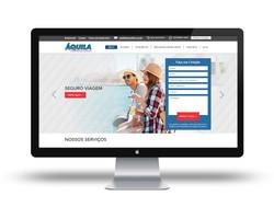 Site Áquila Seguros