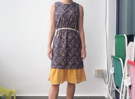 Upcycled dress (add a hem!)