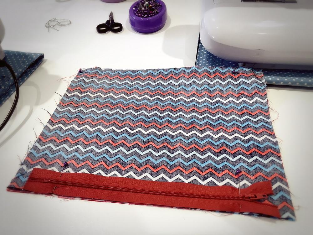 Lined zipped bag 1