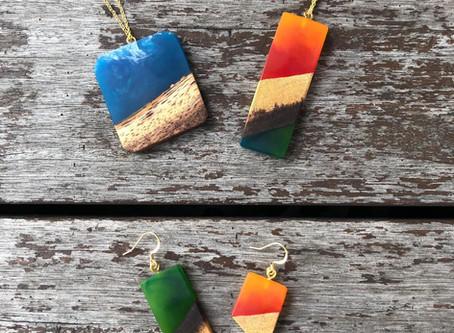 Fallen Trees Resin + Wood Jewellery