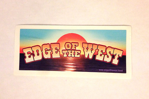 """Edge of the West sunset sticker - small  2"""" x 5"""""""
