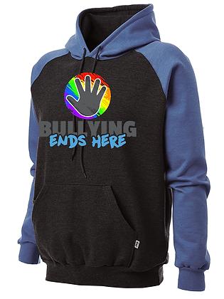 Black/Blue Pride Logo Hoodie