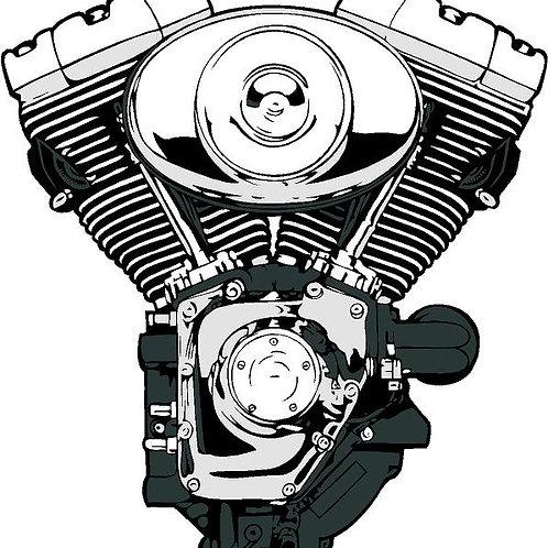 "2005 Harley Davidson 88"" Motor/Trans/Primary Kit"