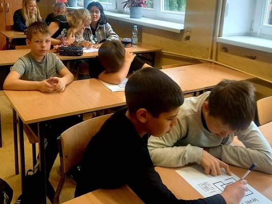 Warsztaty w klasie VII c