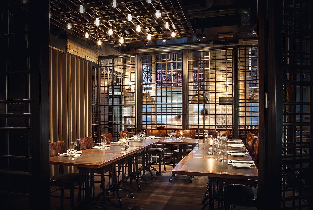 private dining room in Soho