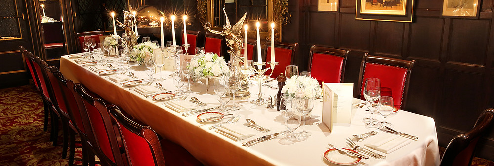 The Graham Greene Room at Rules Restaurant Covent Garden Private Dining Room