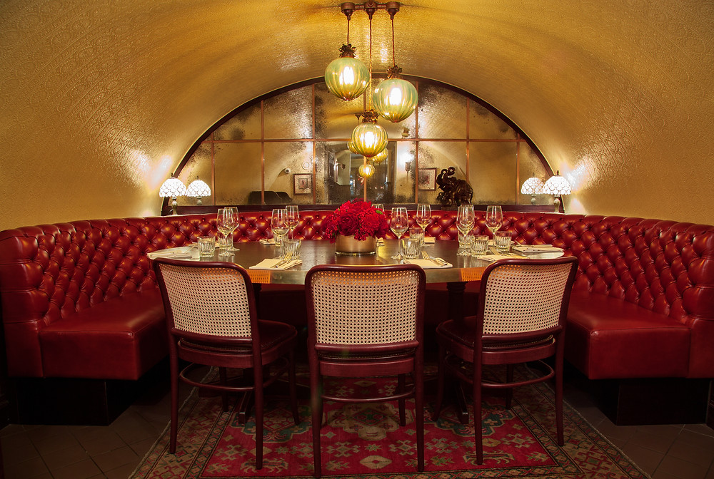 private dining room in Mayfair