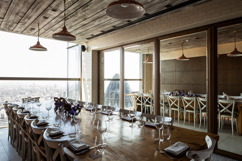 The private dining room at Duck & Waffle