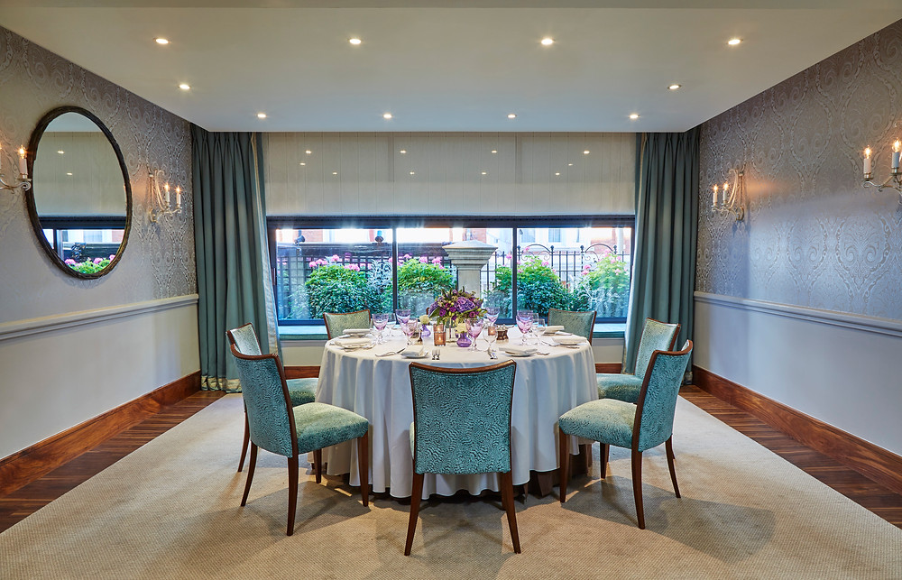 The Eaton Suite Private Dining Room at The Capital Hotel, Nathan Outlaw's Restaurant