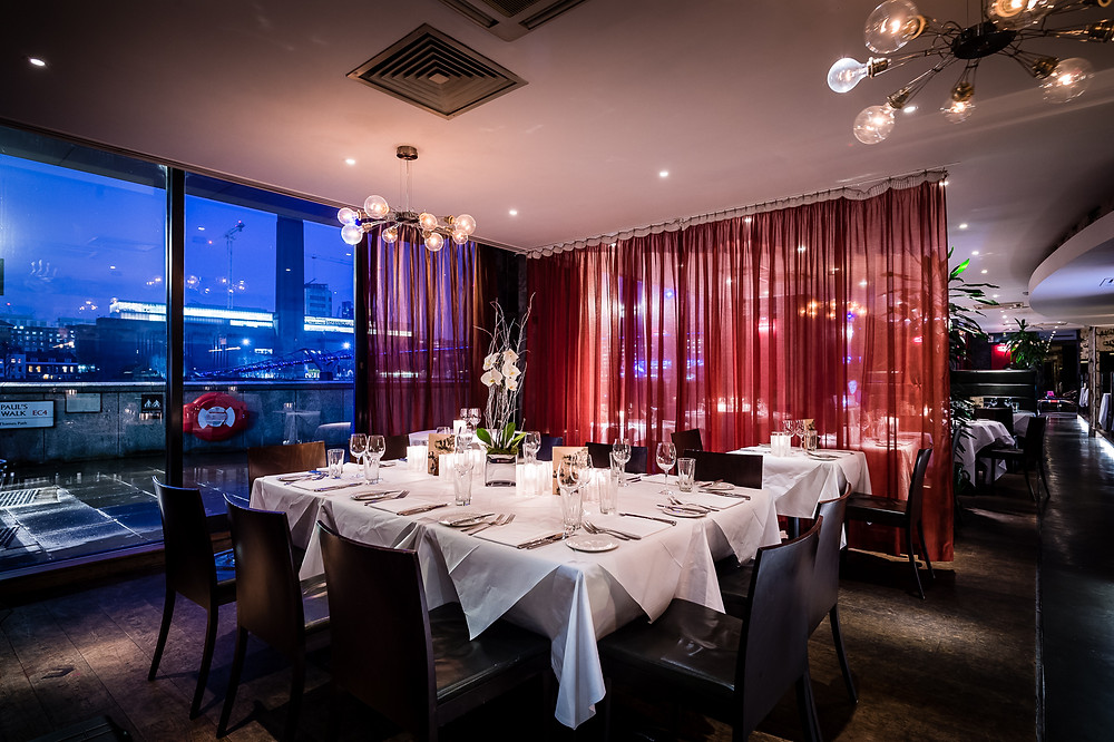 Private Dining Room in the City at Northbank Restaurant