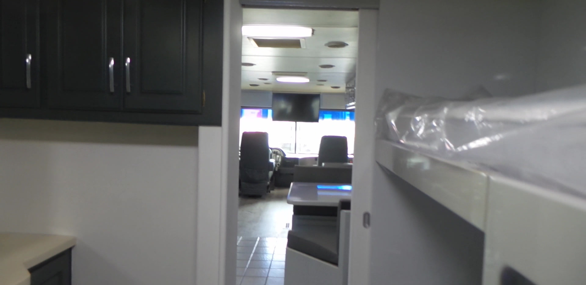 Interior refurb of a Winibago