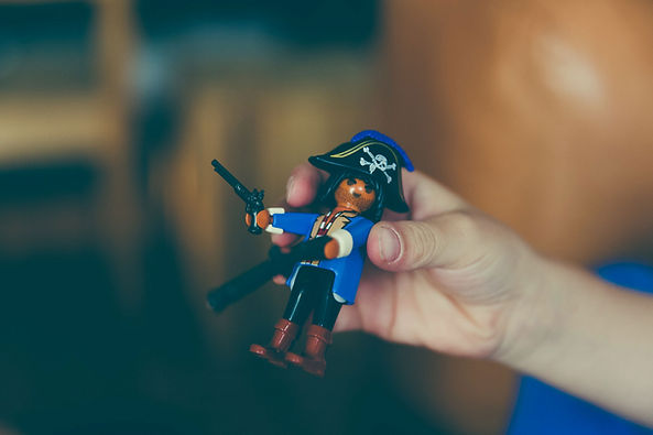 This pirate is ready for The Clue Collective kid's mystery pirate show Treasure Trouble