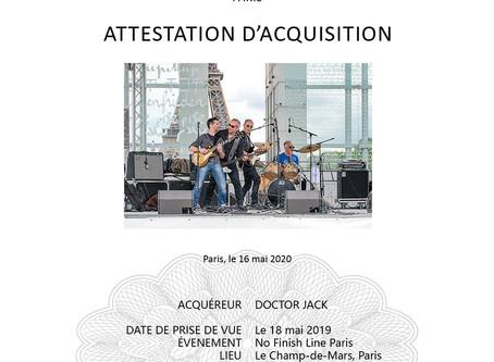 【PHOTO|攝影】 L'attestation d'acquisition pour l'achat d'une photo|攝影作品售出 - 收藏證明|The acquisition certif
