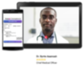 Docta Ghana App screens
