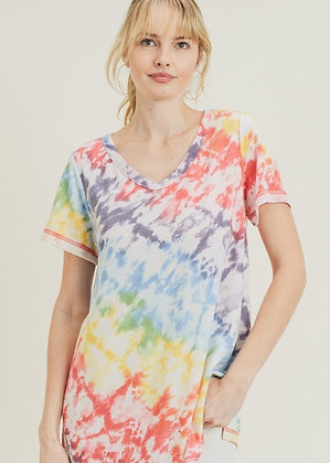 Multi Terry Tye Dye Top