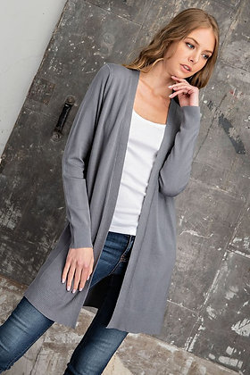 Charcoal Sweater Knit Cardigan
