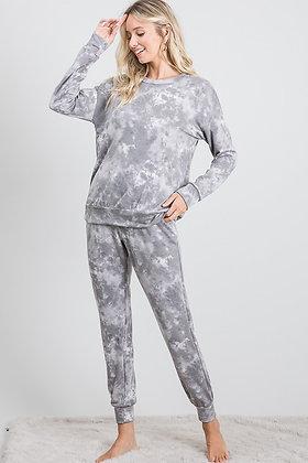 Grey Tye Dye Lounge Wear