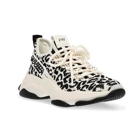 Steve Madden Cream and Black Leopard Sneaker