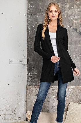 Black Sweater Knit Cardigan