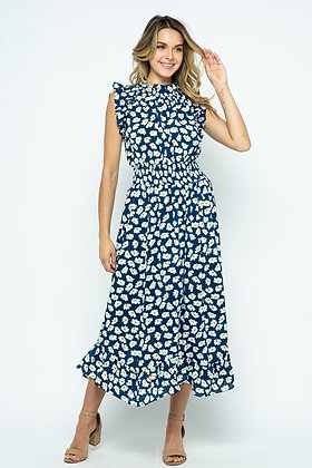 Navy and Daisies Dress