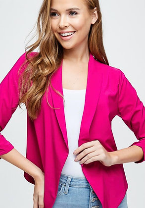 Fuschia Crop Jacket
