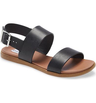 Steve Madden Flat Leather Buckle Sandal