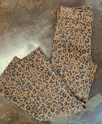 KUT Leopard Ankle Wide Leg