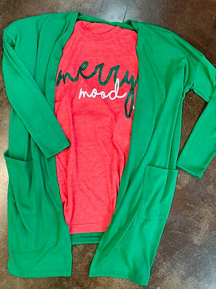 Green Lightweight Sweater Cardigan