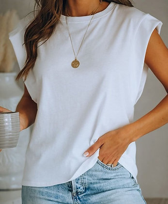 White Sleeveless Top