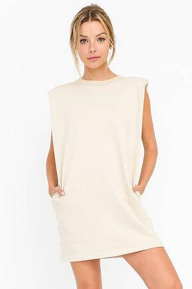 White Terry Tunic/Dress w/Pockets