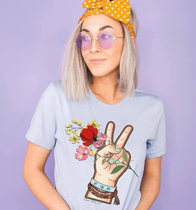 Flower Child on Pale Blue Tee
