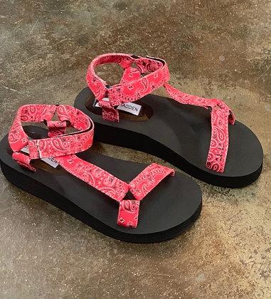 Steve Madden Red Comfort Sandal