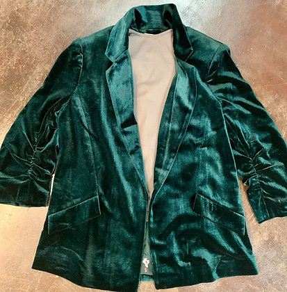 Jade Velvet Tailored Jacket