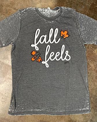 Fall Feels on Acid Wash Tee
