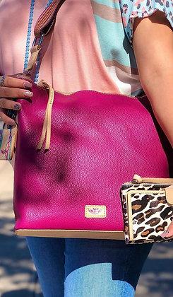 Consuela Large Raspberry Hobo Bage