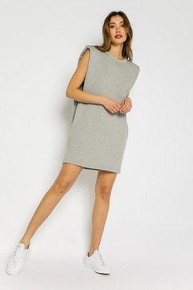 Grey Terry Tunic/Dress w/Pockets