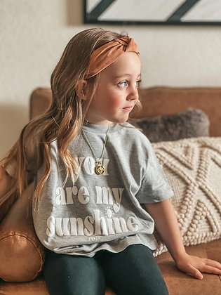You Are My Sunshine Grey Cotton Tee