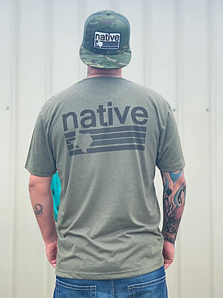 TX Native Army Green Tee