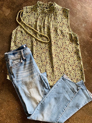 Ivy Jane Moss Green and Animal Top