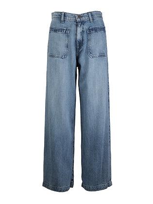 Straight Wide Leg Crop Pant