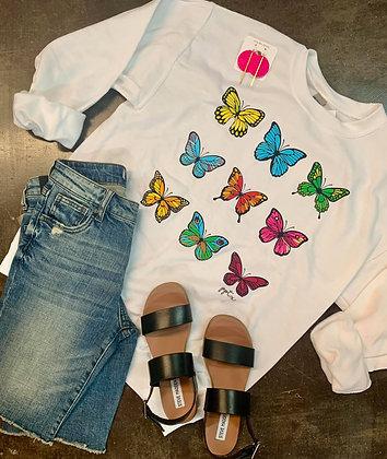 White Butterfly Sweatshirt