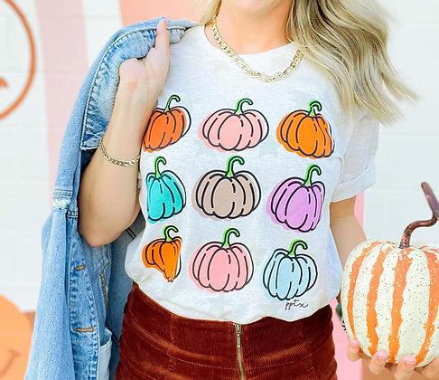 Pumpkin and Stars Tee
